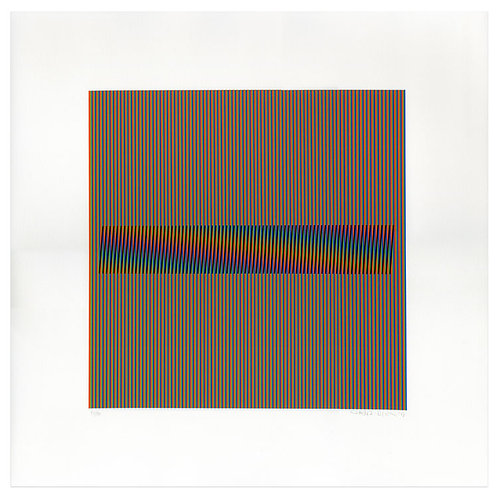 Carlos Cruz-Diez -Induction Chromatique à double fréquence Marcigny 2