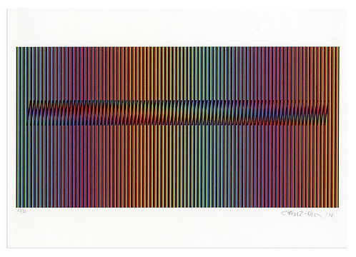 Carlos Cruz-Diez -Induction Chromatique à double fréquence Marcigny 4
