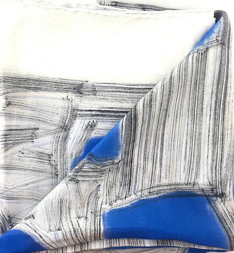 Esther Ojeda- Foulard blue/white