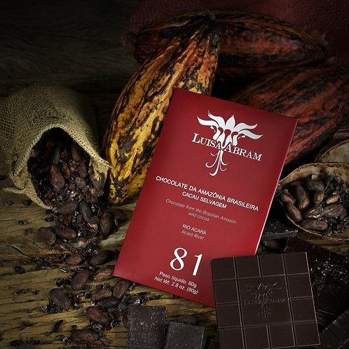 Chocolate Bean To Bar 81% Cacau - Rio Acará