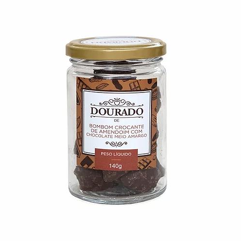 Bombom de Amendoim e Chocolate Meio Amargo (pote 140g)