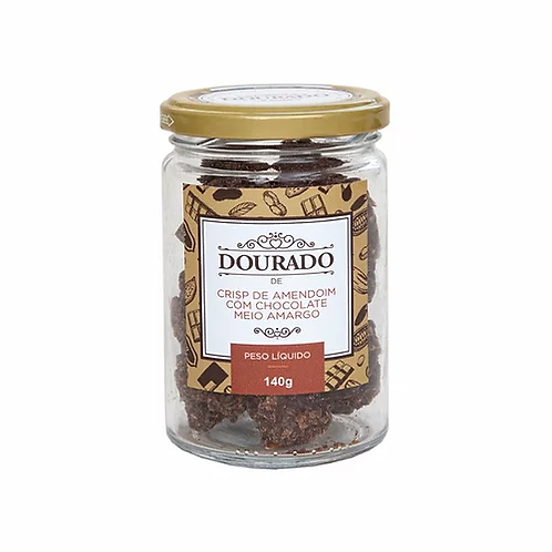 Crisp de Amendoim e Chocolate Meio Amargo (pote 140g)
