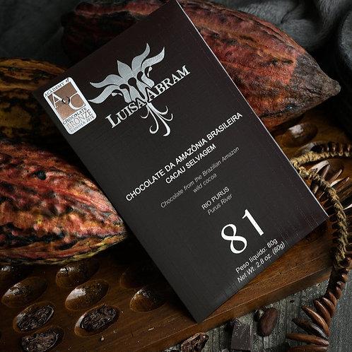 Chocolate Bean To Bar 81% Cacau - Rio Purus