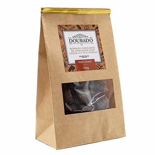 Bombom de Amendoim e Chocolate Meio Amargo