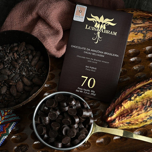 Chocolate Bean To Bar 70% Cacau - Rio Purus
