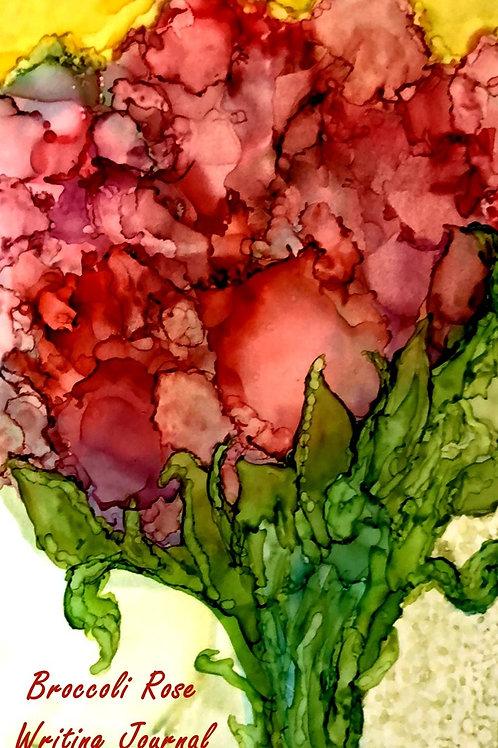 Broccoli Rose Writing Journal by ZanyMom Art
