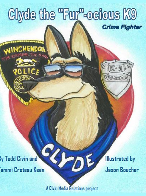 K9 Clyde Book and Coloring Book Combo