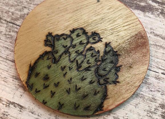 Nicole Landreth - Cute & Pokey Wood Burned Ornament