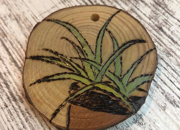 Nicole Landreth - Mini Plantas #8 Wood Burned Ornament