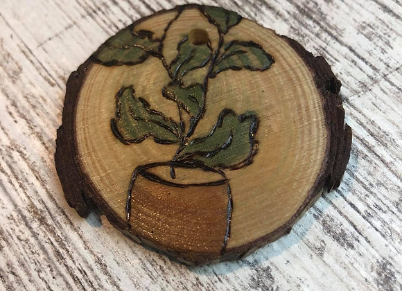 Nicole Landreth - Mini Plantas #7 Wood Burned Ornament