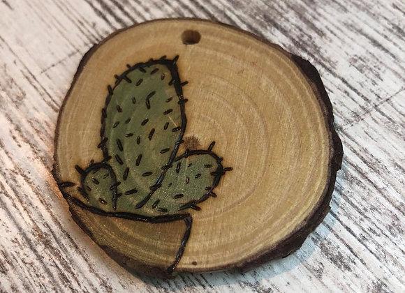 Nicole Landreth - Mini Plantas #5 Wood Burned Ornament