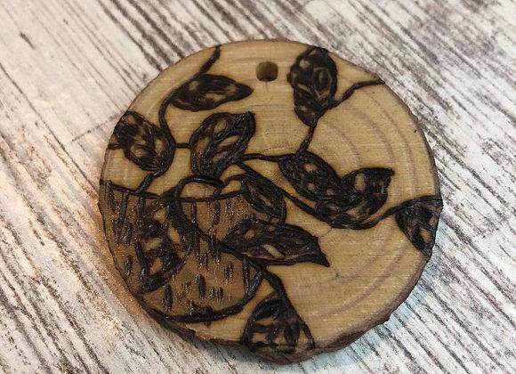 Nicole Landreth - Mini Plantas #3 Wood Burned Ornament