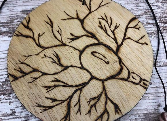 Nicole Landreth - Neuron Wood Burned Ornament