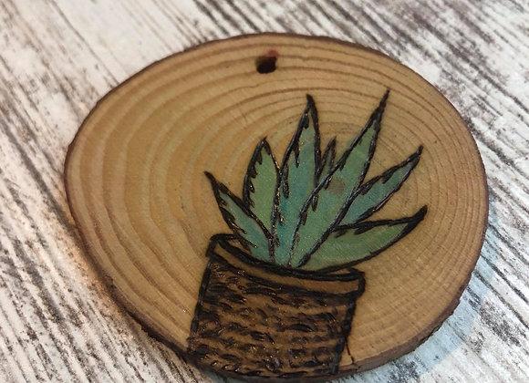 Nicole Landreth - Mini Plantas #6 Wood Burned Ornament