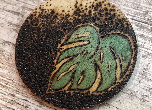 Nicole Landreth - Monsteras #2 Wood Burned Ornament