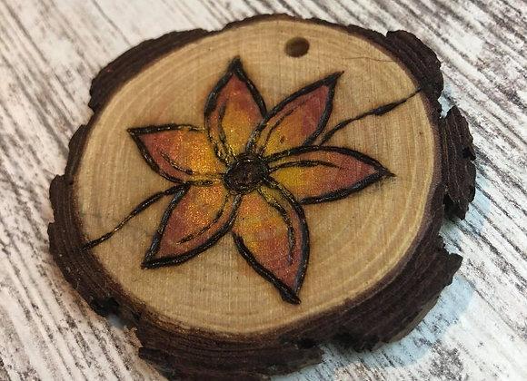 Nicole Landreth - Mini Plantas #10 Wood Burned Ornament