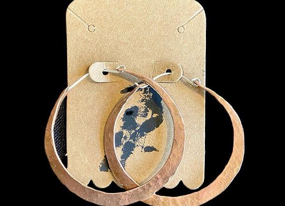 Carla Leikam - Copper Hoop Earrings w/Sterling Wire