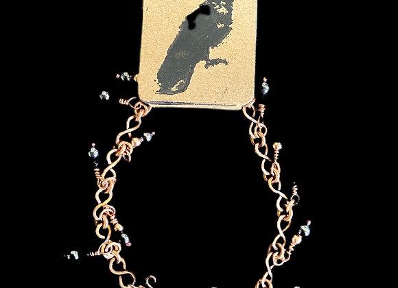 Carla Leikam - Copper Chain Bracelet w/Onyx and Hematite