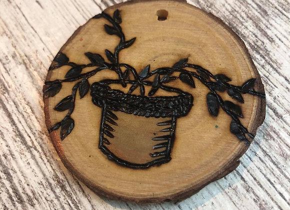 Nicole Landreth - Mini Plantas #4 Wood Burned Ornament