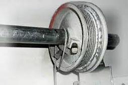 We replace bent or broken garage door drums