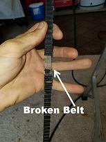 broken belt