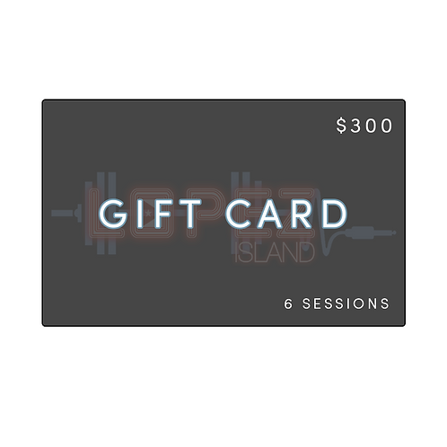 6 SESSION HOLIDAY GIFT CARD
