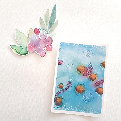 Par Petits Bonds,carte postale