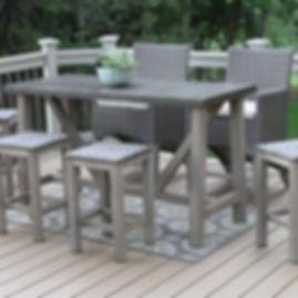 Rectangle Bar Table, table, bar