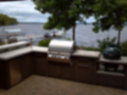 sunset bay, outdoor kitchen, luxury