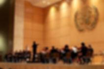 2016年10月18日、スイス・ジュネーブの国連欧州本部で開催された柳澤寿男指揮