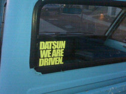 DATSUN WE ARE DRIVEN