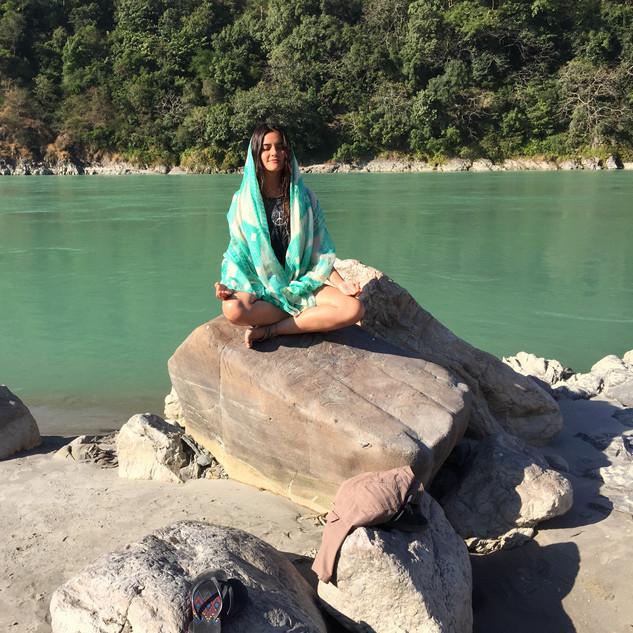 Meditation by the Holy Ganga