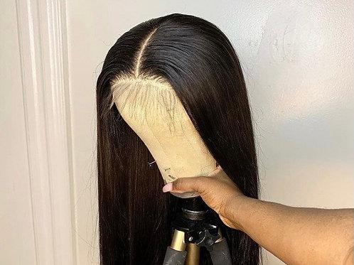 "Brazilian Straight 5x5 HD Lace Closure Wig 24"""