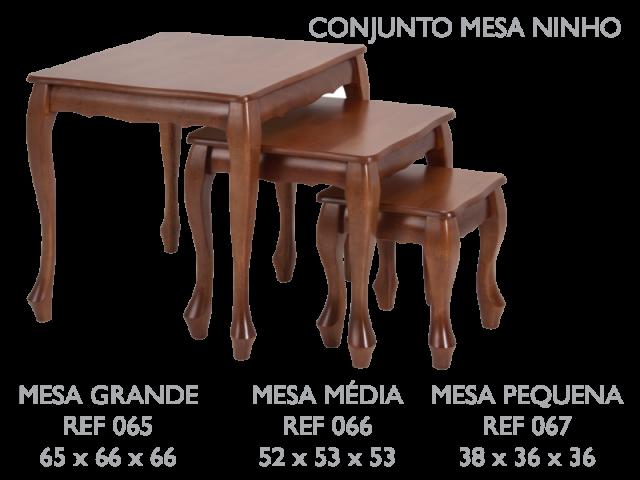 Conjunto mesa ninho