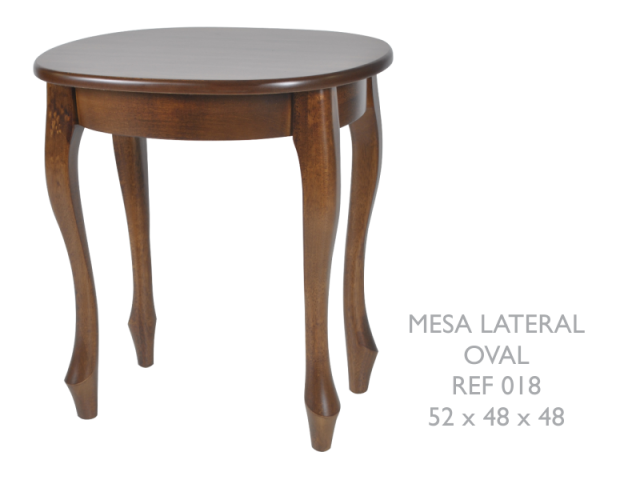 Mesa lateral oval