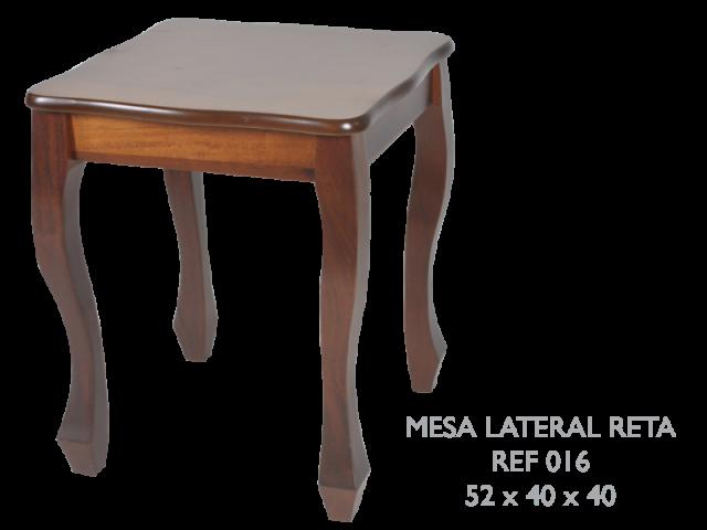 Mesa lateral reta