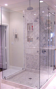Five piece frameless shower - Signal Mountain