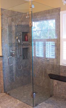 Four piece frameless shower in Dalton Ga