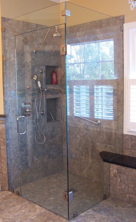 Four piece frameless shower in Dalton Ga