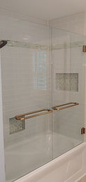 Double door shower tub Brushed Brass (1)