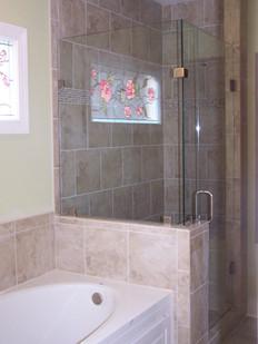 Three piece frameless shower in Ooltewah