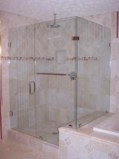three piece frameless shower in trenton,