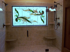stained glass and three piece frameless