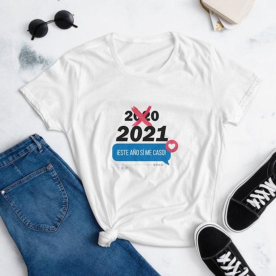 ¡Este año SÍ me caso! Camisa pegadita (blanca)