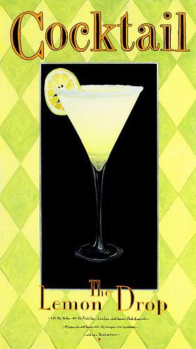 Lemon Drop. Mixed media, Silver Leaf on Giclée
