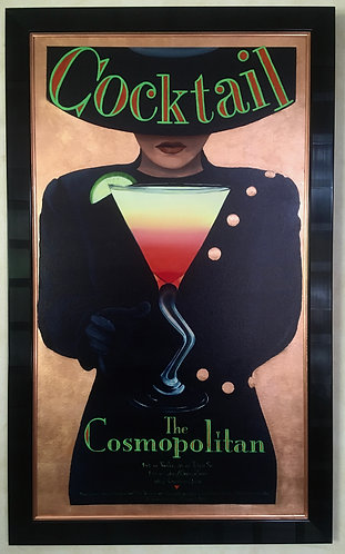 The Cosmopolitan. Mixed media, Copper Leaf on Giclée