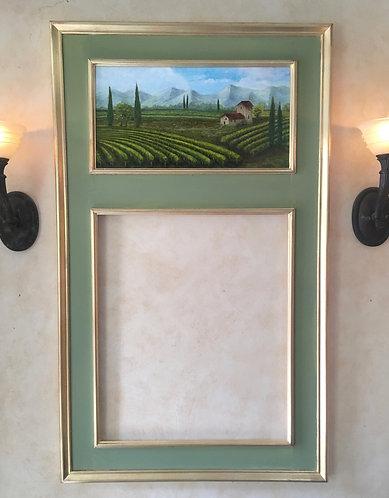 Vineyard in Tuscany Trumeau Mirror