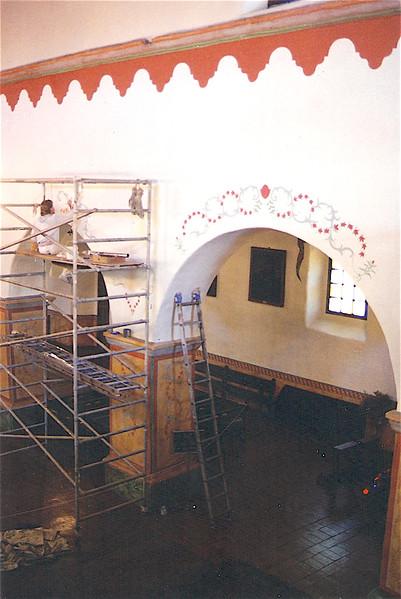 Restoration of the earthquake damaged artwork at San Juan Bautista Mission