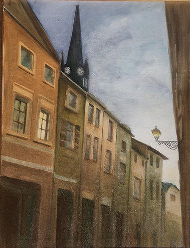 Giclée on canvas of Joinville in France