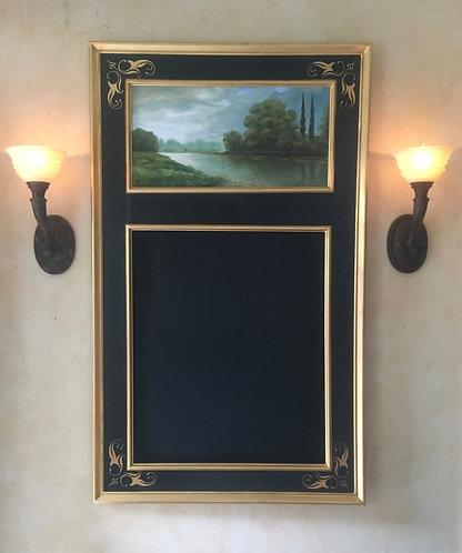 Sgraffito Trumeau Mirror